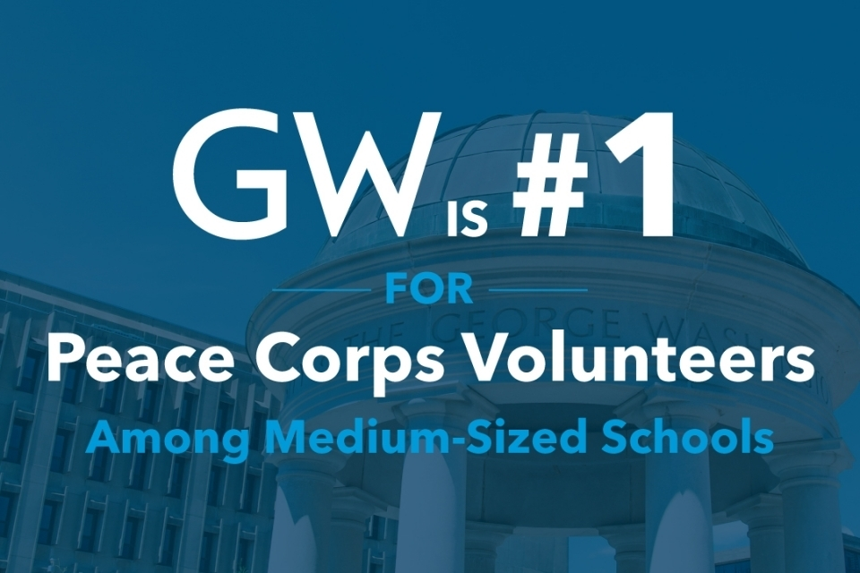 GW Leads List of Peace Corps Volunteer Producers