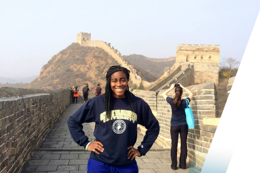 Girl on the Great Wall of China