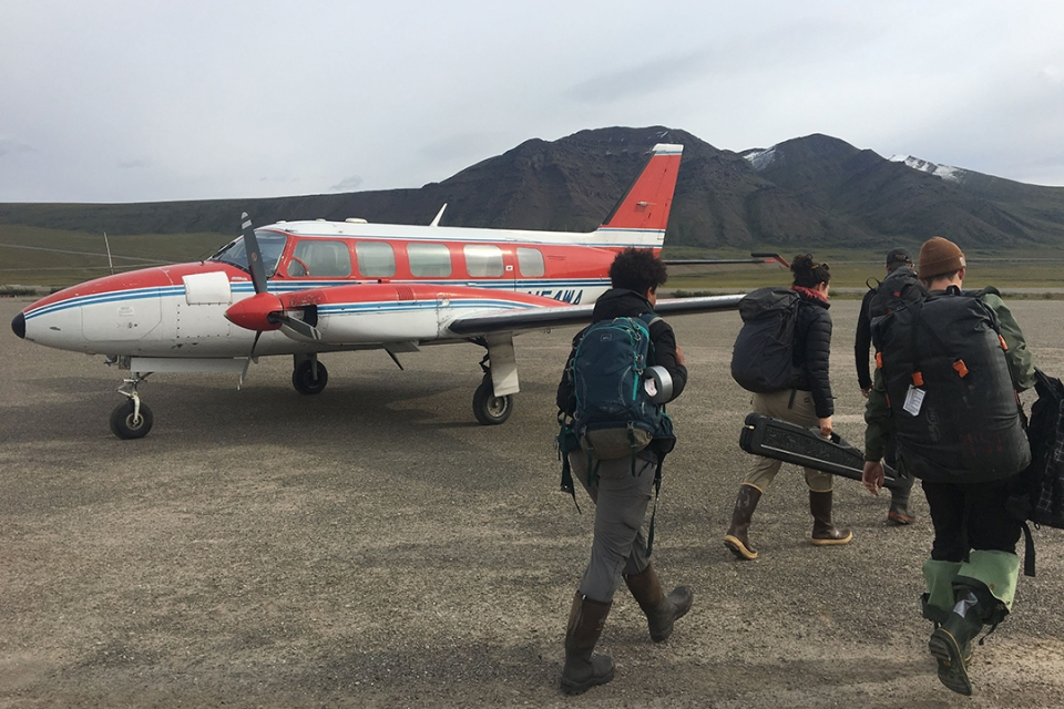 Researchers use planes to access remote sites in the Arctic to collect data on permafrost, ground that remains frozen for at least two consecutive years.