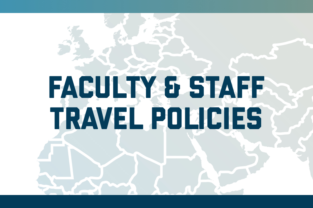 Faculty & Staff Travel Policies