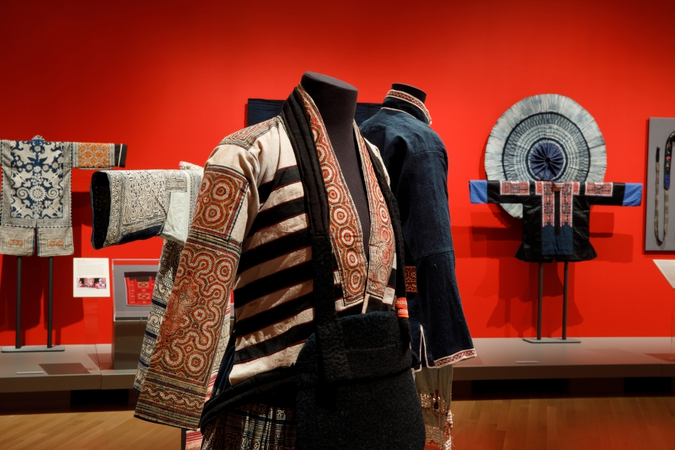 "Clothes from minority cultures in Southwest China on display at ""Vanishing Traditions."""