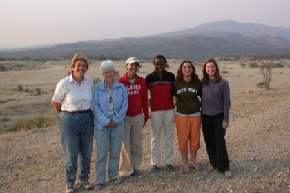 Alison Brooks (L), a professor of anthropology at GW's Center for the Advanced Study of Human Paleobiology, worked with a team o
