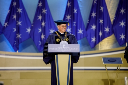 GW President Thomas LeBlanc