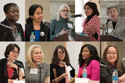 Mosaic of Speakers at Women's Leadership Conference